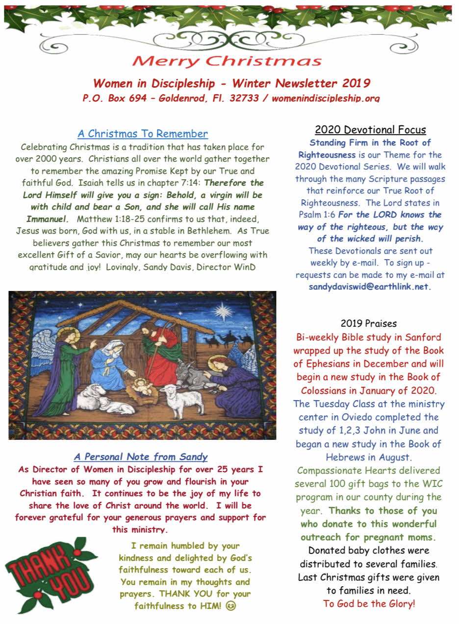 Christmas 2019 Newsletter